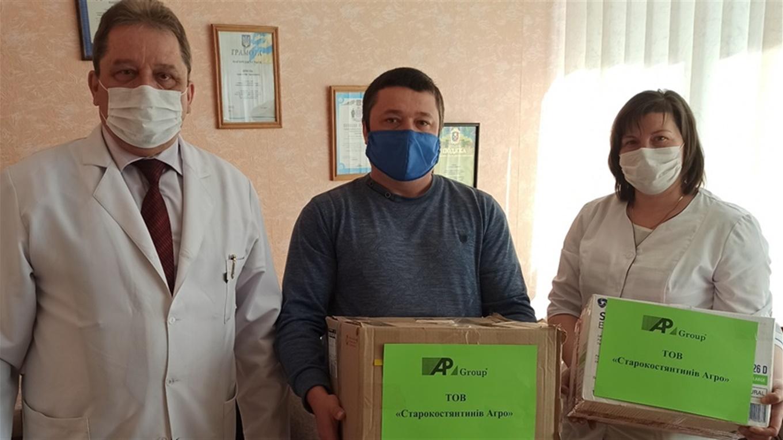 Допомога: маски, халати, рукавички отримали медичні працівники від ТОВ «Старокостянтинів Агро»