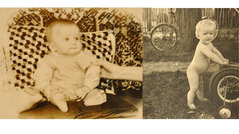 Сини Степана і Стефи Петрашів. Зліва Тарас, справа Володя.