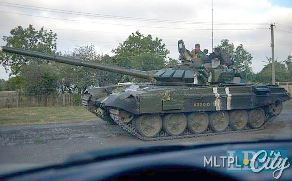 Этот трофейный танк помогал выводить колонну из котла