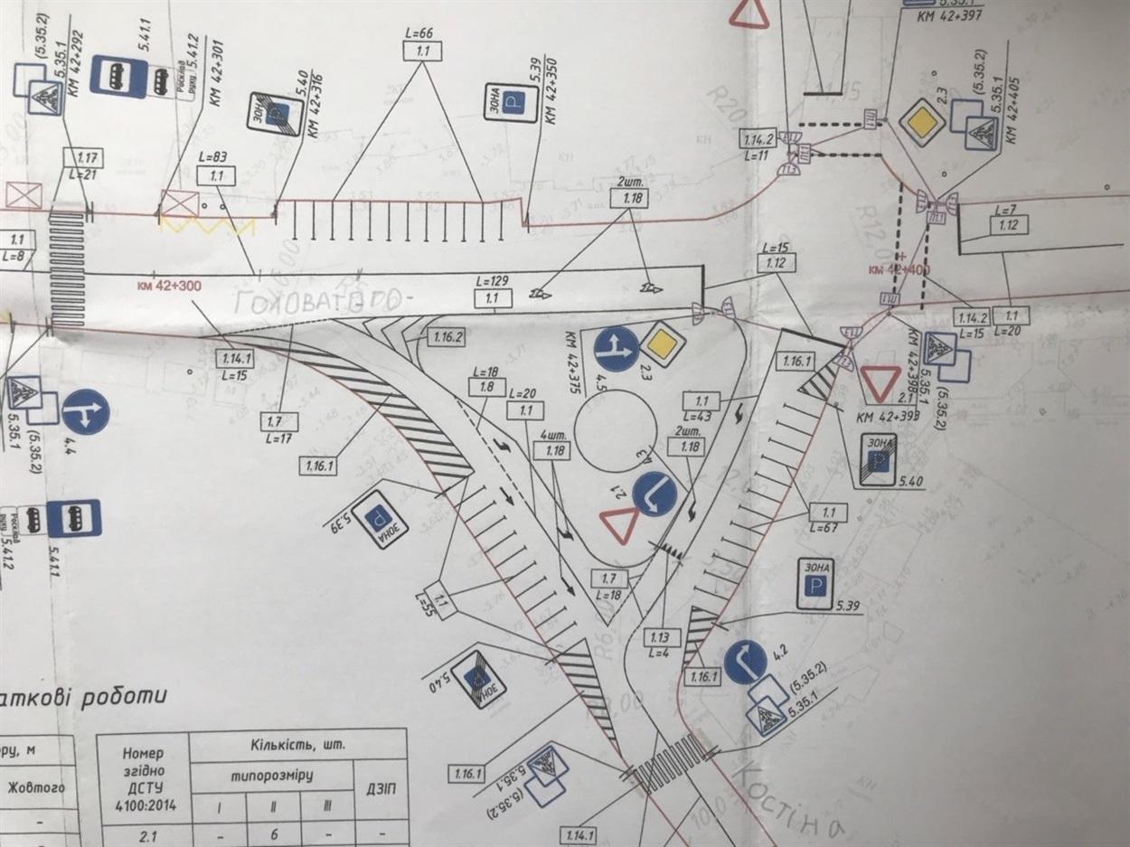 Ось така схема руху буде на теперішньому кругу у центрі після реконструкції. Залишилось чекати недового.