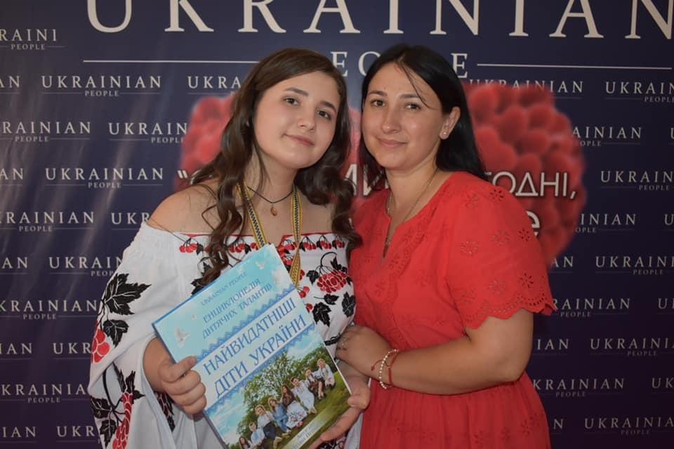 Анастасія з мамою Юлією.