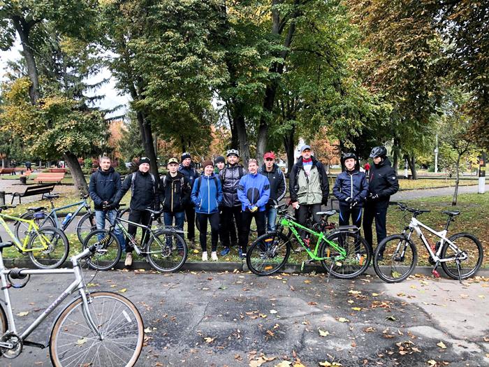 Учасники велопробігу