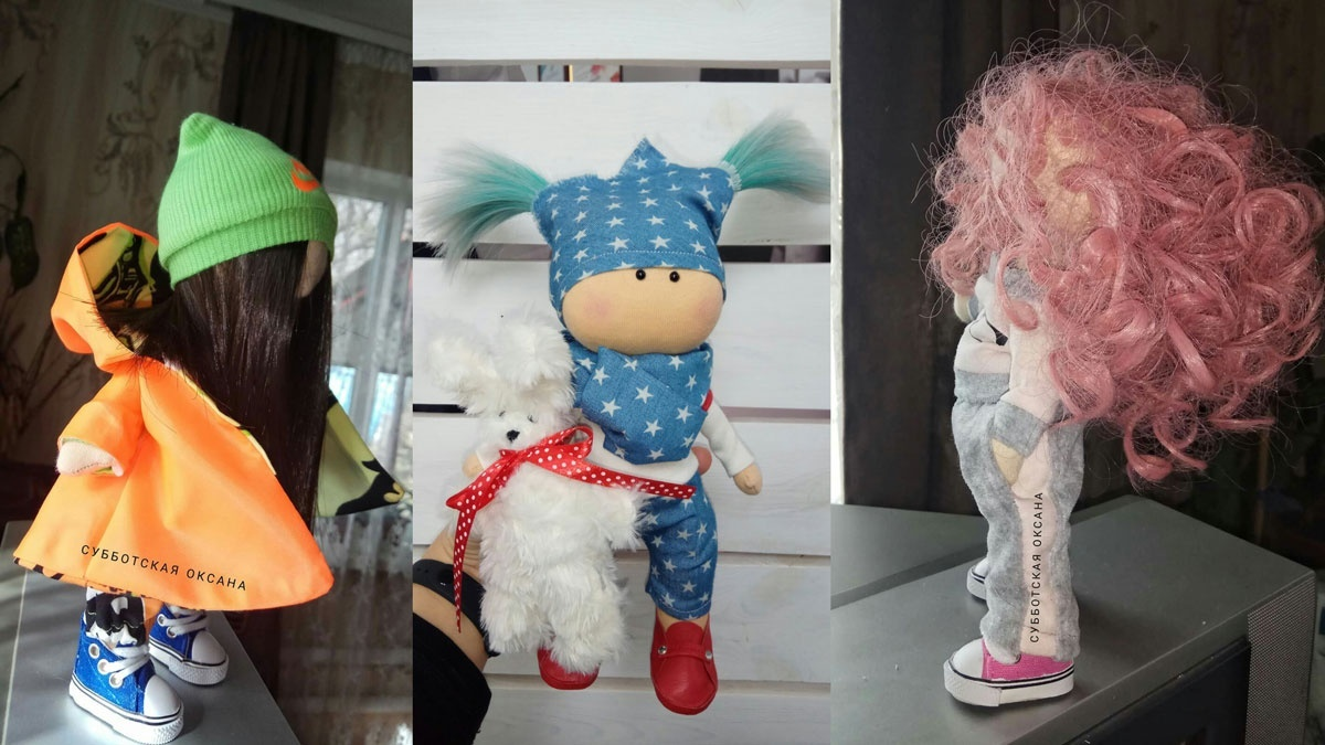 Текстильні ляльки від Оксани Суботської