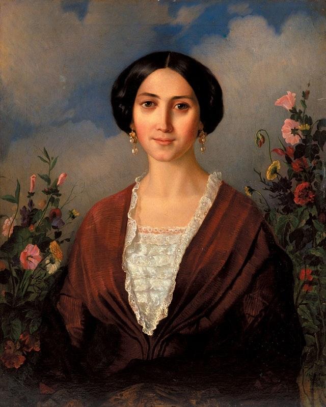 Портрет дружини. авт. Мокрицький