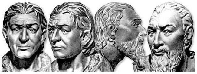 Ліворуч – скіф з Нікопольского могильнику, праворуч– скіфський царь