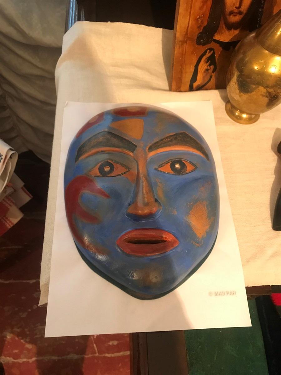 Гіпсова копія ритуальної маски з Аляски