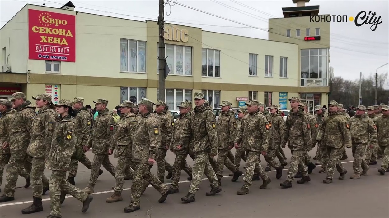 У Конотопі із зони ООС зустріли бійців 58 ї ОМПБр, 2019 рік